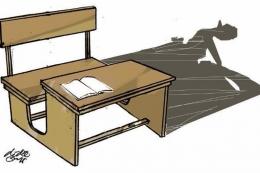 ilustrasi belajar di sekolah. (sumber: KOMPAS/DIDIE SW)