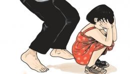 ilustrasi kekerasan yang dialami oleh anak dari orangtua. (sumber: KOMPAS)