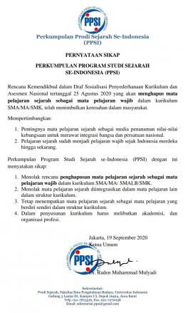Pernyataan Sikap PPSI/istimewa