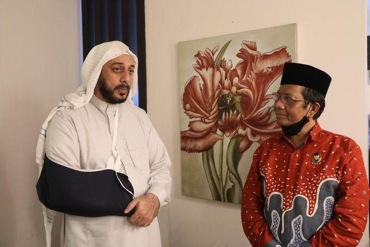 Syekh Ali Jaber dan Menkopolhukam, Moh Mahfud MD. Gambar dari nasional.kompas.com