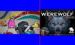 Among Us disebut-sebut permainannya mirip Werewolf. Gambar: diolah dari Wartaekonomi.co.id dan Amazon.com