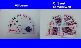 Bermain Werewolf juga bisa dengan kartu remi. Gambar: Dokpri/DeddyHS
