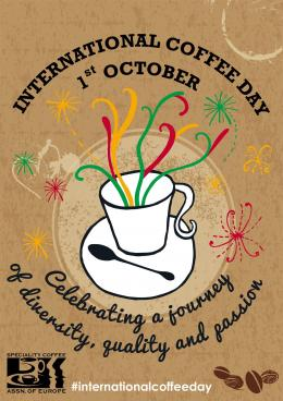 Poster Int'l Coffee Day. Sumber: www.cafespaces.wordpress.com