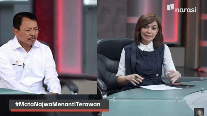 Menteri Kesehatan Terawan Agus Putranto (kiri) dan jurnalis sekaligus presenter Najwa Shihab (kanan) | Sumber gambar: tribunnews.com/ narasi tv