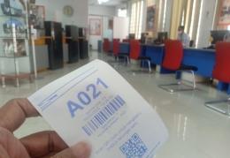 Nomor antrian di Bank Danamon kota Bekasi (Foto : Fifi SHN)