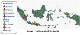 Gambar 1. Peta Kilang Minyak di Indonesia (Sumber : Laptah Ditjen Migas 2019)