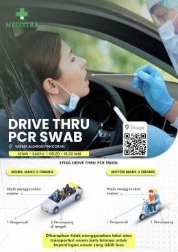 infografis pcr swab drive thru. (Sumber: Medistra)