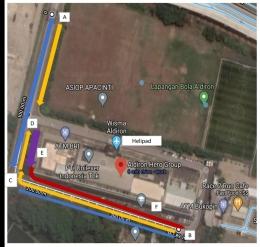 Hasil tangkap layar lokasi pcr swab drive thru. (dok. pribadi)