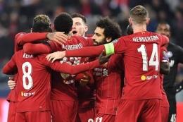 Gambar selebrasi gol pemain Liverpool, (kompas.com)