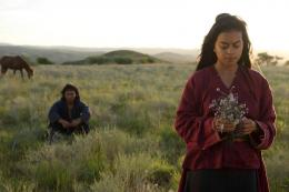 Eva Celia dan Nicholas Saputra sebagai pemeran utama film ini. Sumber: mokino.co