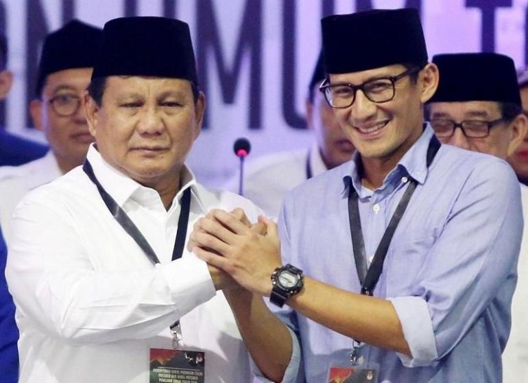 ilustrasi: netralnews.com (Prabowo dan Sandiaga Uno)