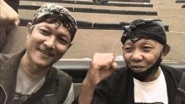 Foto penulis dan Bp. Sriyono (kanan) Ketua Pepadi Kab. Banyumas.   Dokpri