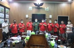 Pengurus PBB DPC Jakarta Barat berfoto bersama Dandim 0503/JB dan jajaran, Selasa (27/10/2020). Foto (DPC Jakbar)