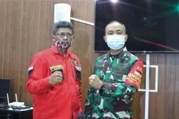 Masrin Marbun (kiri) dan Kolonel Inf. Dadang Ismail Marzuki, SIP. Foto (DPC Jakbar)