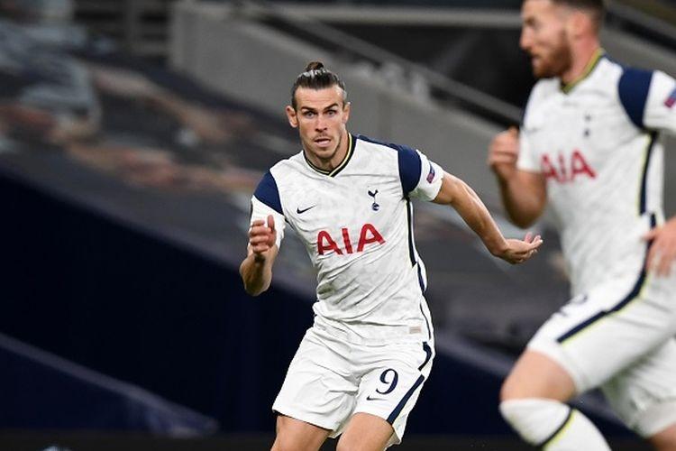 Gareth Bale dalam laga Tottenham vs LASK, Jumat (23/10/2020) dini hari WIB.(AFP/DANIEL LEAL-OLIVAS via KOMPAS.com)