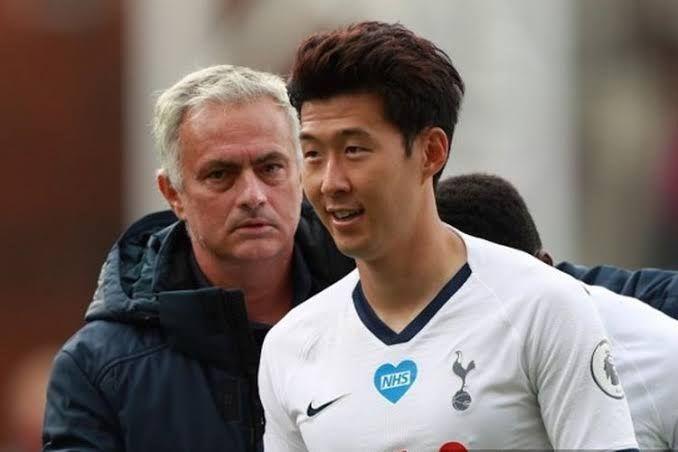 Mourinho dan Son Heung-Min (Kompas.com)