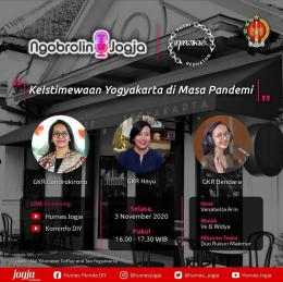 Poster live streaming Ngobrolin Jogja Grebeg