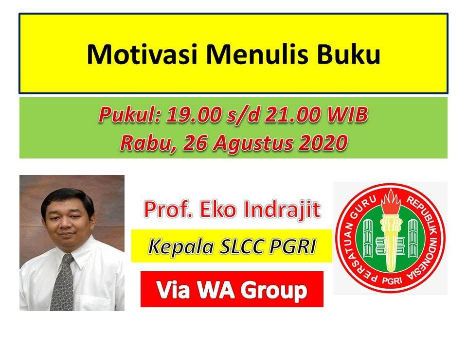 Prof Eko Indrajit yang sellu berbagi ilmunya