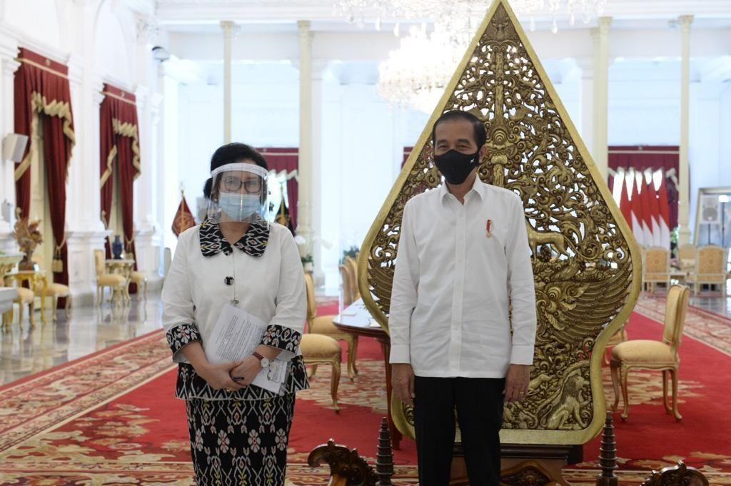 Prof Unifah Rosyidi bertemu presiden Jokowi di Istana negara