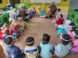 Anak-anak melakukan pembelajaran tatap muka dengan protokol kesehatan/dokpri