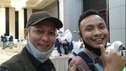 Foto penulis (kiri) di lokasi kegiatan.   Dokpri