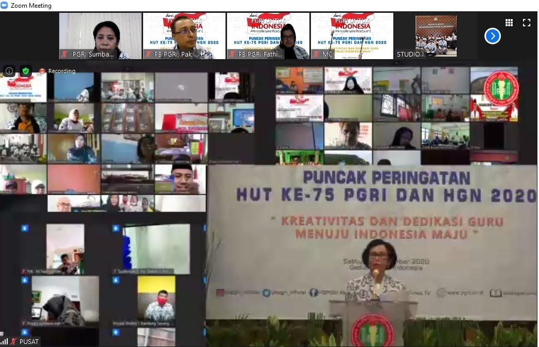 Pidato Ketua Umum PB PGRI, Pengurus Besar PGRI, Prof. Unifah Rosyidi