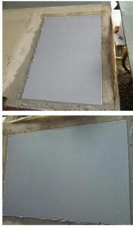 Lembaran-lembaran kertas yang baru selesai dicetak dengan bahan baku limbah kertas dan gedebong pisang. (foto dok pri).