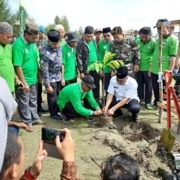 Gerakan penanaman pohon secara nasional di Aceh Barat (foto dok pri).