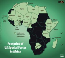 Gambar 3.The footprint of US Special Forces in Africa 2019.