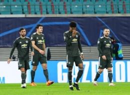Manchester United tersingkir dari Liga Champions (Foto RexPictures via The Sun)