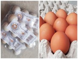 Telur ayam kampung organik dan telur ayam negeri (Dok. Pribadi)