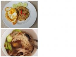 Contoh makanan dengan telur sebagai pelengkap (Dok. Pribadi)