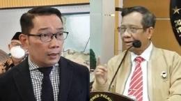 Kang Emil dan Mahfud MD (kolase tribunnews)