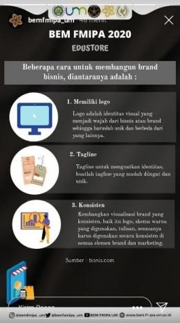 Pembagian informasi mengenai kewirausahaan (bemfmipa_um)