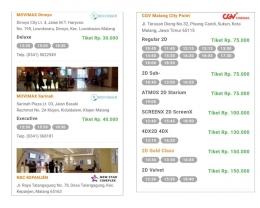 Jadwal Film Bioskop di Luar Aplikasi Booking Film (dokpri)