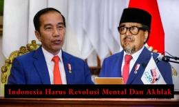 Presiden Jokowi (sebelah kiri) dan Habib Rizieq (sebelah kanan) dalam ilustrasi. Foto diolah pribadi dari grid.id