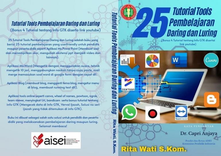 Cover Buku 25 Tutorial Tools Pembelajaran Daring dan Luring