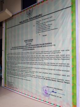 Poster edaran dari Pemkot Pekanbaru | dokpri