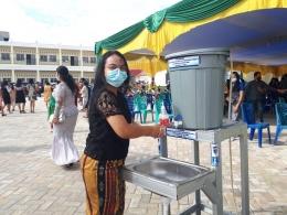 Kran cuci tangan di depan gereja | dokpri