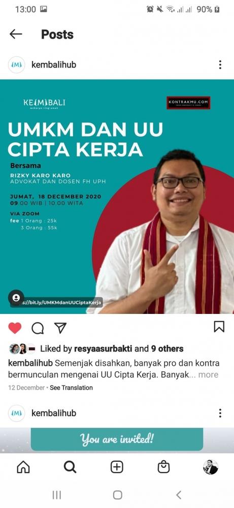 E-Poster pada instagram kembalihub