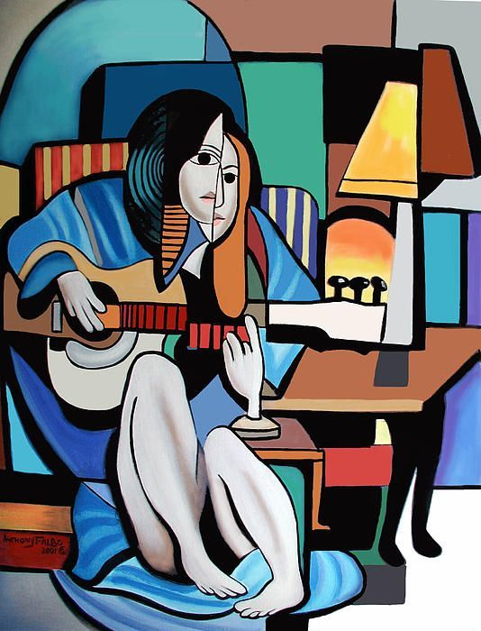 Lady With Guitar by Anthony Falbo | falboart.com