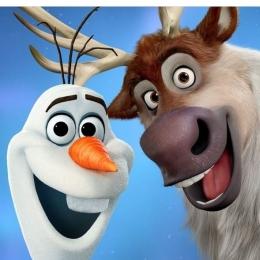 Olaf dan Sven (sumber gambar: instagram.com/disneyfrozen)