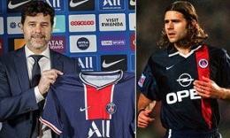 Mauricio Pochettino, pelatih baru PSG (kiri). Foto kanan: Pochettino semasa berseragam PSG (Sumber: Dailymail.co.uk)