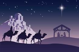 Orang Majus dari Timur menyambangi bayi Yesus. Sumber: gbipasko.com