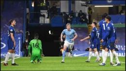 Foto:De Bruyne Mencetak Gol Ke-3 Bagi Manchester City Saat Melawan Chelsea Tadi Malam (03/01/2020) | sport.detik.com