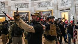 Pendukung Trump Menyerbu Gedung Capitol. Sumber: Getty Images via BBC Indonesia