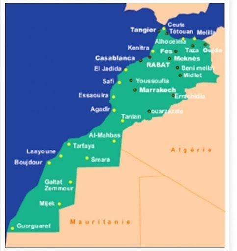 Peta Maroko | Sumber: Kedutaan Besar Maroko di Jakarta