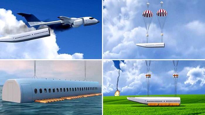 Ilustrasi parasut pesawat | Gambar: dailymail.co.uk via Tribunnews