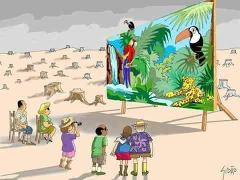 Kondisi Alam Rusak Ulah Manusia. Sumber Brilio.net