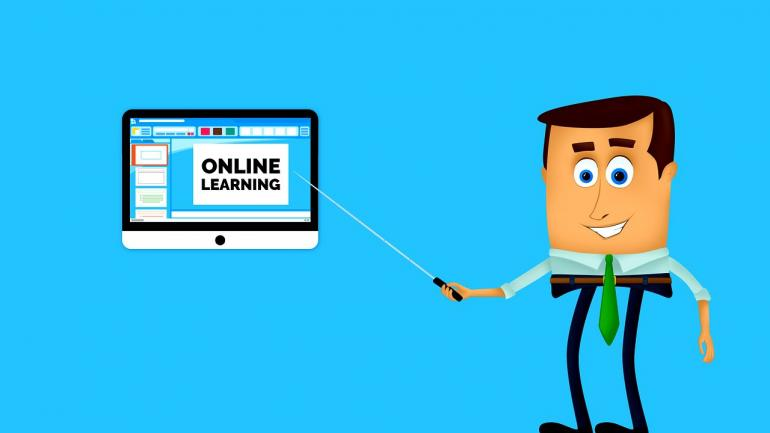 Ilustrasi Pembelajaran Online. Sumber: mmi9 on Pixabay.com
